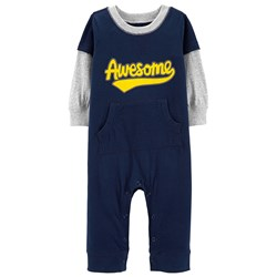 Carter's Awesome Layered-Look Onesie Marinblå