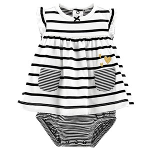 "Image of Carter""s Striped Dress Body White/Black 24 mdr' (1329144)"