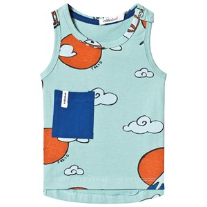 Image of Indikidual Teal Mountain Sun Vest 0-6 months (3125251613)