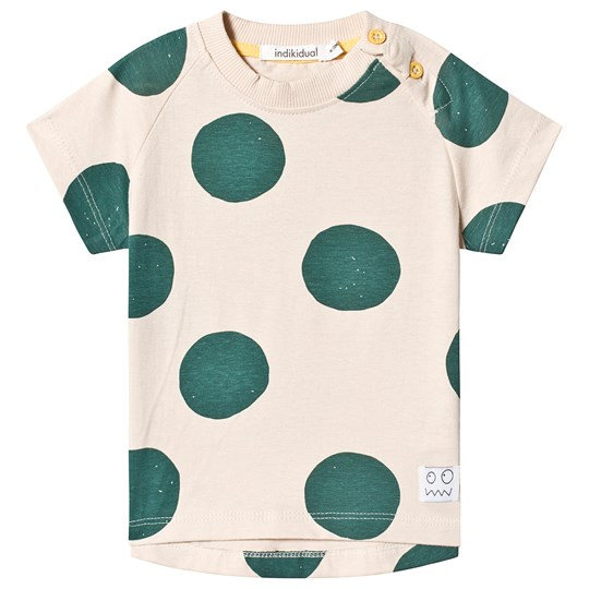 Indikidual Beige Spotted  T-shirt LUCKY