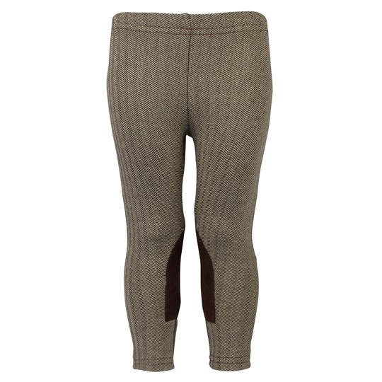 Ralph Lauren Tweed Jodphur Legging Brown Cream BROWN