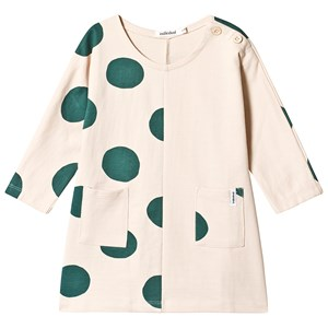 Image of Indikidual Beige Half Spotted Dress 12-24 months (3125253951)