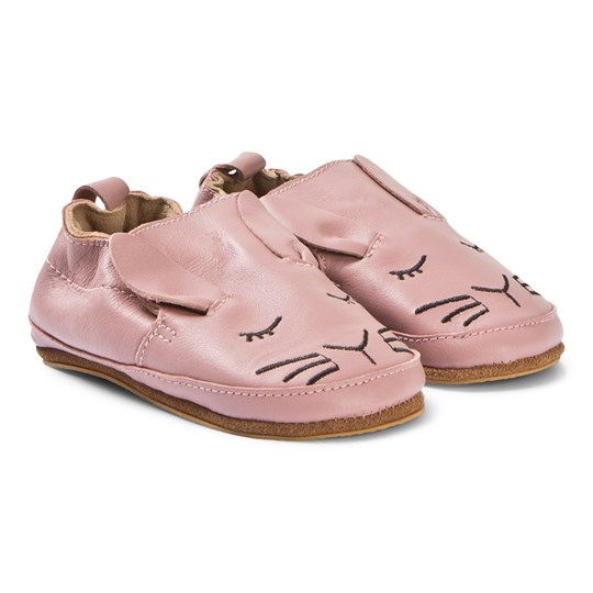 Melton Rabbit Leather Shoes Pink Alt Rosa