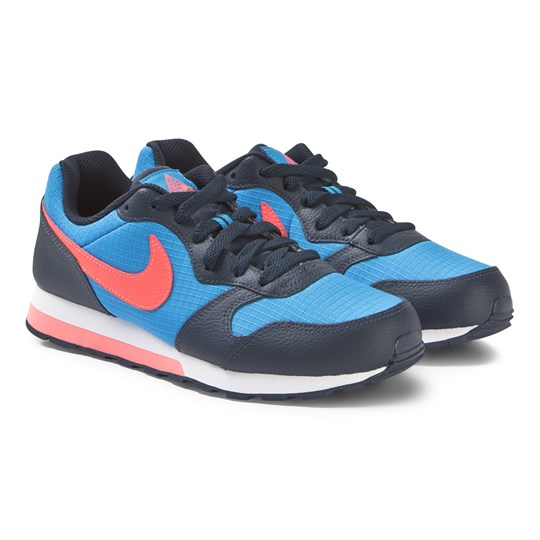 NIKE MD Runner 2 Junior Sneakers Photo Blue and Bright Crimson 412