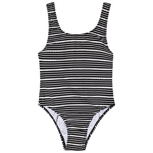 Image of Seafolly Black & White 80's Broderie Stripe Swimsuit 10 years (3125250563)