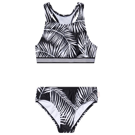 Seafolly Black & White Palm Print Tankini BLA/WHI