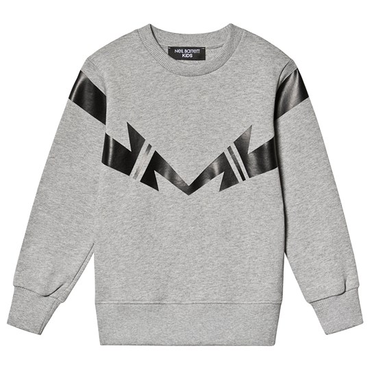 Neil Barrett Mirrored Thunder Bolt Sweatshirt Grey/Black 101