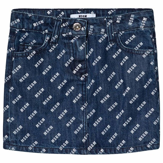 MSGM MSGM Print Skirt Blue Denim 126
