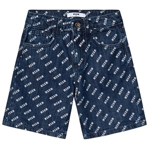 Image of MSGM Blue Denim MSGM Logo Shorts 10 years (1225591)