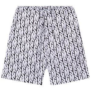 Image of MSGM All Over MSGM Logo Shorts Black/White 10 years (3125255409)