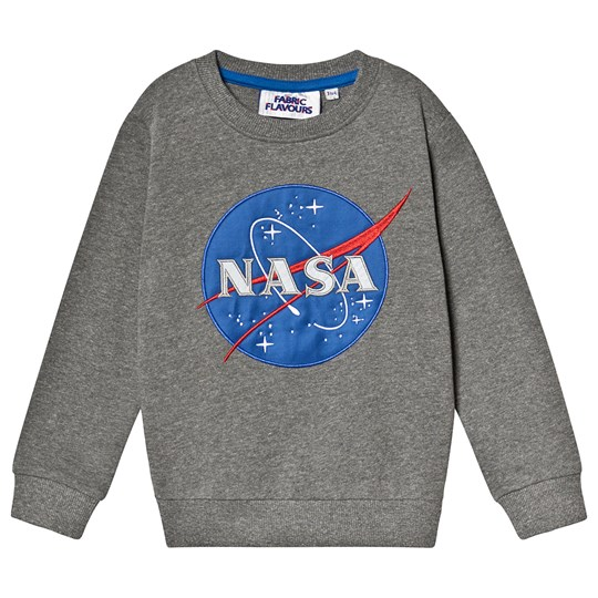 Fabric Flavours NASA Logo Sweatshirt Grey Black