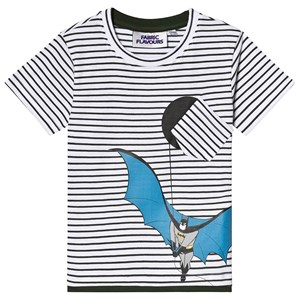 Image of Fabric Flavours Batman Stripe Tee White 3-4 years (3125249075)