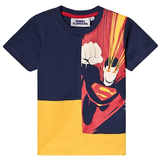 Fabric Flavours Superman Beam T-Shirt Marinblå