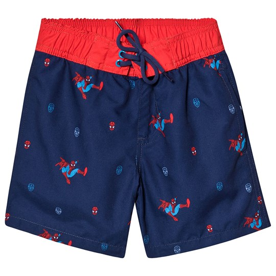 Fabric Flavours Spider-Man Swim Trunks Navy Navy