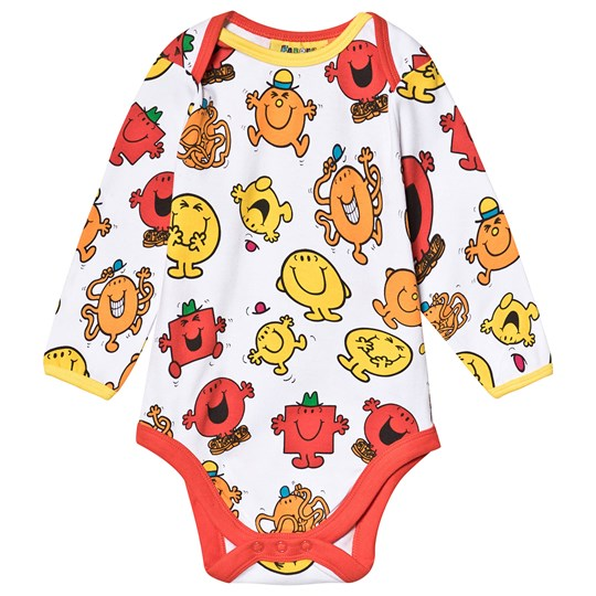 Fabric Flavours Mr. Men Baby Body Röd Red