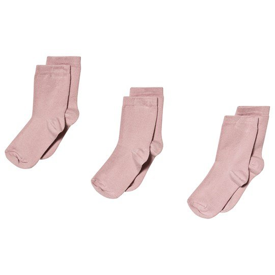 Melton 3-Pack Numbers Socks Pink Alt Rosa