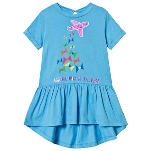 Image of Agatha Ruiz de la Prada Blue Aeroplane Dress 10 years (3125279097)