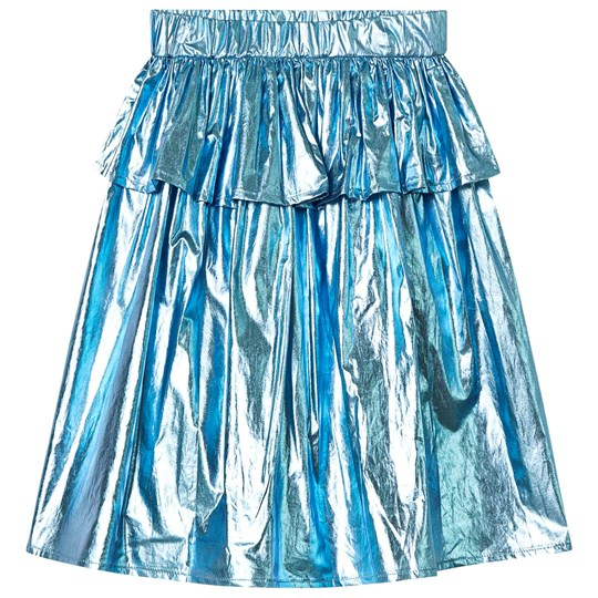 Caroline Bosmans Skirt Metallic Blue Metallic Blue