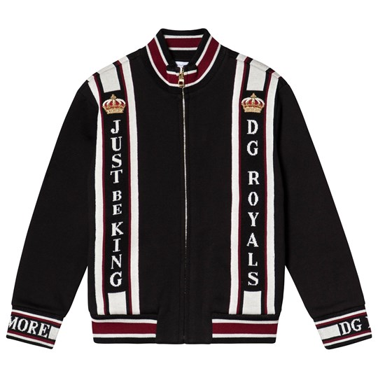 Dolce & Gabbana Black Royals Sweat Bomber Jacket N0000