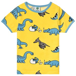 Image of Småfolk Yellow Dino Tee 7-8 år (3125269779)