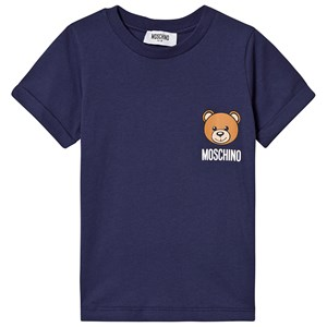 Image of Moschino Kid-Teen Bear Branded Tee Marineblå 10 years (3125303995)