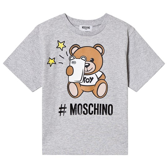Moschino Kid-Teen Selfie Bear Tee Grey 60901