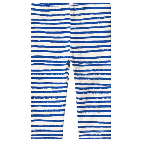 Noe & Zoe Berlin Blue Stripes Print Infant Leggings BLUE STRIPES S