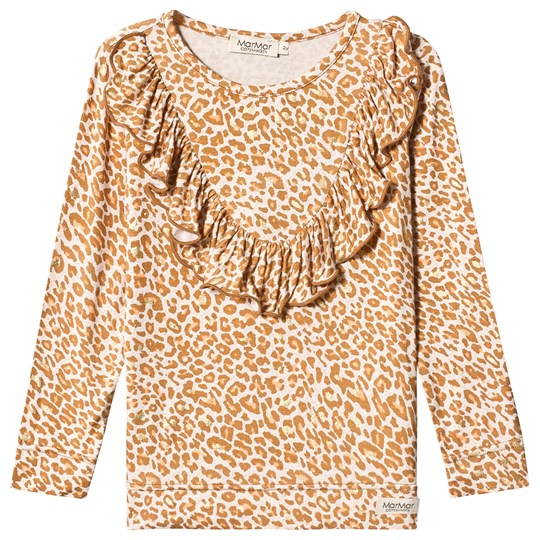 MarMar Copenhagen Caramel Leo T-shirt with long sleeves Caramel Leo