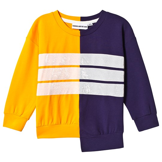 Gardner and the gang Classic Sweatshirt Cut Through Orange/Lilla Mustard