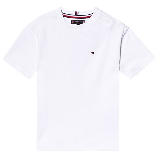Tommy Hilfiger White Branded Tee 123
