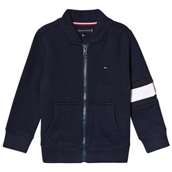 Tommy Hilfiger Navy Flag Pannel Bomber Sweater