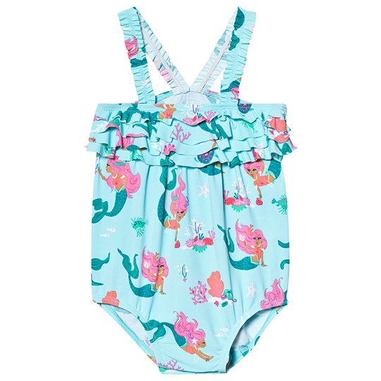 Hatley Mermaid Tales Ruffled Swimsuit Blue BLUE MERMAID