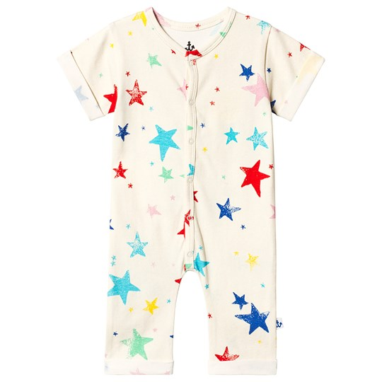 Noe & Zoe Berlin Multi Coloured Stars Print Romper MULTI KULTI STARS
