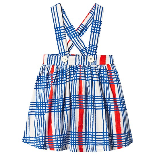 Noe & Zoe Berlin Blue Gingham Dungaree Skirt BLUE GINGHAM