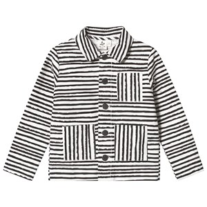 Image of Noe & Zoe Berlin Black Stripes Print Lightweight Twill Jacket 8 years (3125263659)
