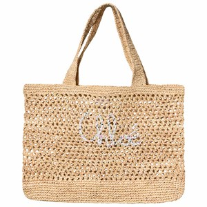 Image of Chloé Straw Love Tote Beige (3125260297)
