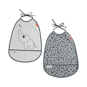 Image of Done by Deer 2-Pack Elphee Bib Grey Tones One Size (1323943)