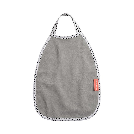 Done by Deer Happy Dots Pullover Terry Bib Grey Musta
