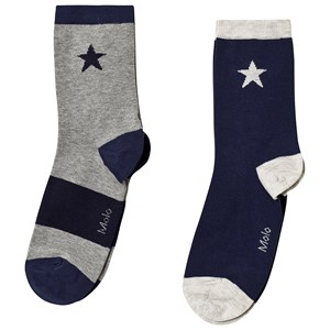 Image of Molo Nitis 2-Pack Socks Sailor 27-30 (4-6 år) (3125358719)