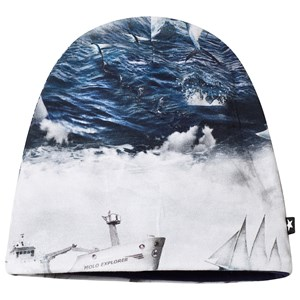 Image of Molo Ned Baby Hat Sailor Stripe 6-12 mdr (3125358877)