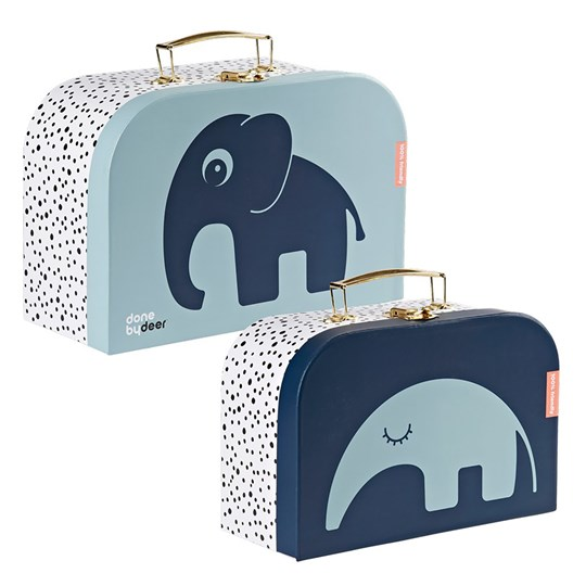 Done by Deer 2-Pack Nesting Suitcases Blue Blue