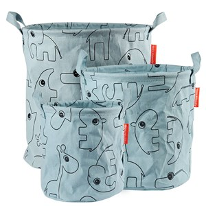 Image of Done by Deer 3-Pack Soft Storage Baskets Blue One Size (1324009)