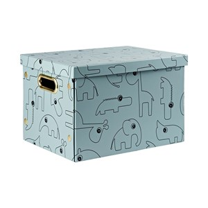Image of Done by Deer Contour Folding Storage Box Blå One Size (1324012)