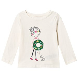 Image of GAP Graphic Long Sleeve Tee White 5 år (3125351257)