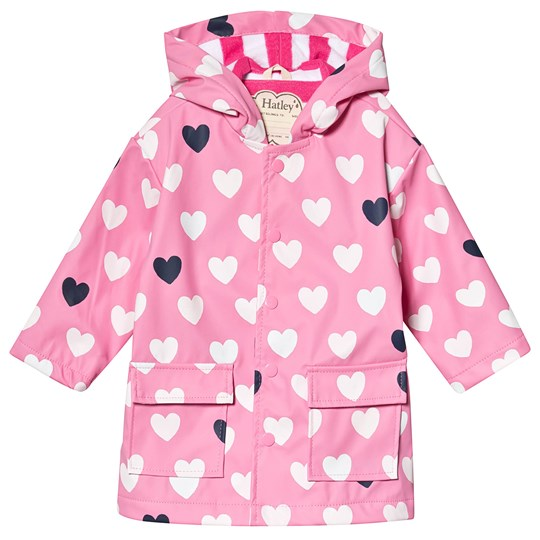 Hatley Lovely Hearts Raincoat Pink PINK HEARTS