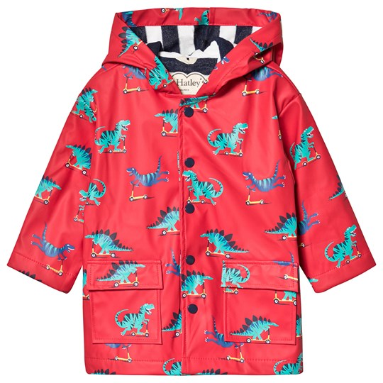 Hatley Scooting Dinos Raincoat Red RED DINOS