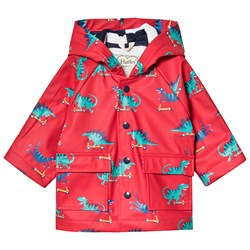 Hatley Scooting Dinos Baby Raincoat Red