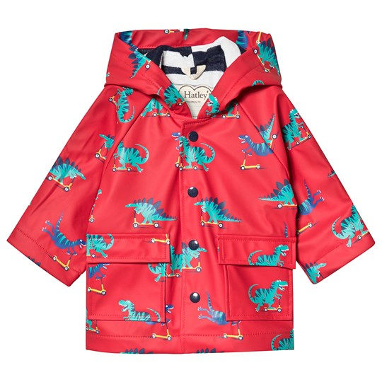 Hatley Scooting Dinos Baby Raincoat Red RED DINOS