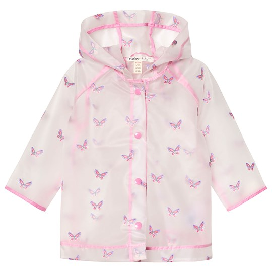 Hatley Clear Butterflies Raincoat PINK BUTTERFLIES