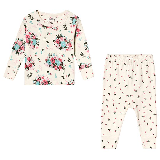 Hatley Floral Hedgehogs Pajama Set White CREAM FLORAL HEDGEHOGS